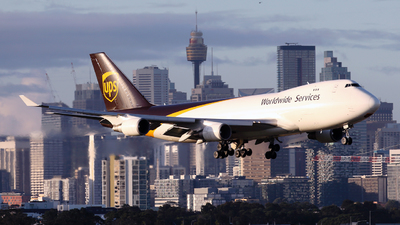 A picture of N581UP - Boeing 7474R7(F) - UPS - © Morris Biondi