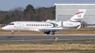 A picture of FWSIX - Dassault Falcon 6X - [] - © Spot Plane from Balcony