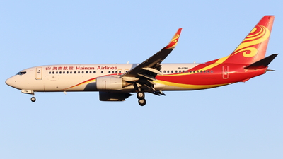 A picture of B1796 - Boeing 73784P - Hainan Airlines - © ZBAAGypsophila