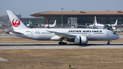 JA834J - Boeing 787-8 Dreamliner - Japan Airlines (JAL)