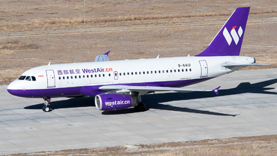 A picture of B6412 - Airbus A319133 - China West Air - © ShirokaneRinko