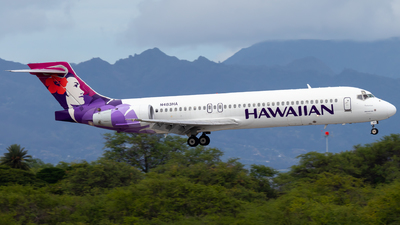A picture of N483HA - Boeing 71722A - Hawaiian Airlines - © JacksonAviation