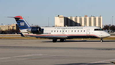 N454AW - Bombardier CRJ-200LR - US Airways Express (Air Wisconsin)