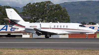 A picture of N520QS - Cessna 680A Citation Latitude - NetJets - © Juan Manuel Galvez
