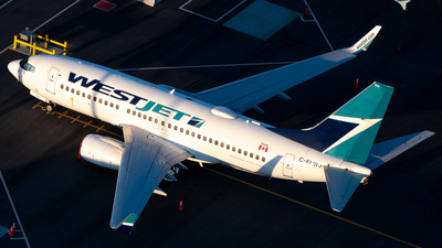 A picture of CFLWJ - Boeing 7377CT - WestJet - © Derek MacPherson