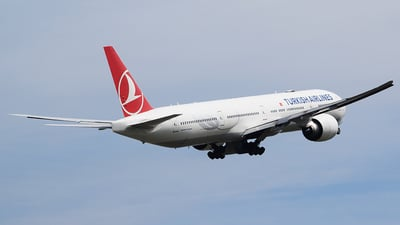 A picture of TCJJE - Boeing 7773F2(ER) - Turkish Airlines - © John Fitzpatrick