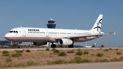 A picture of SXDGQ - Airbus A321231 - Aegean Airlines - © Fabrizio Gandolfo