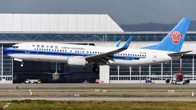 A picture of B1776 - Boeing 73781B - China Southern Airlines - © guweishi
