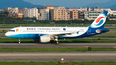 A picture of B6620 - Airbus A320214 - Chongqing Airlines - © Lazy Clutch