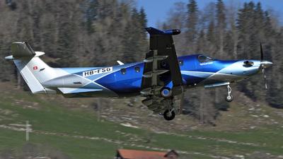 A picture of HBFSG - Pilatus PC12 - Pilatus Flugzeugwerke - © Mirko Bleuer