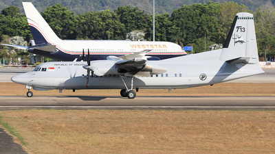 713 - Fokker 50 - Singapore - Air Force