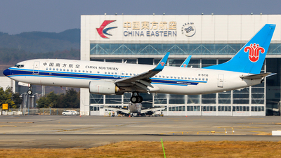 A picture of B5716 - Boeing 73781B - China Southern Airlines - © ChengFJ