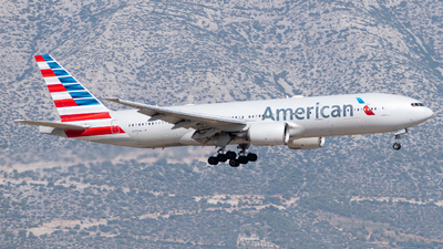 A picture of N773AN - Boeing 777223(ER) - American Airlines - © John Leivaditis
