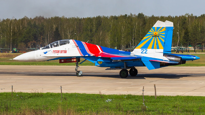 22 - Sukhoi Su-27UB Flanker C - Russia - Air Force