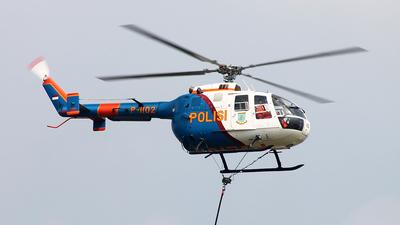 P-1102 - MBB Bo105CB - Indonesia - Police