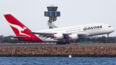 VH-OQB - Airbus A380-842 - Qantas