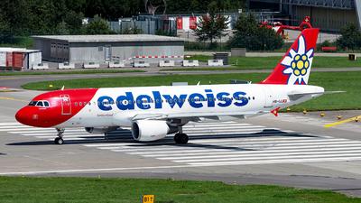 A picture of HBIJU - Airbus A320214 - Edelweiss Air - © Sebastian Thiel