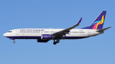 A picture of B205T - Boeing 73784P - Urumqi Airlines - © sunshy0621