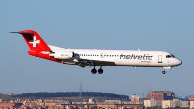 A picture of HBJVF - Fokker 100 - [11466] - © Óscar López Herrero