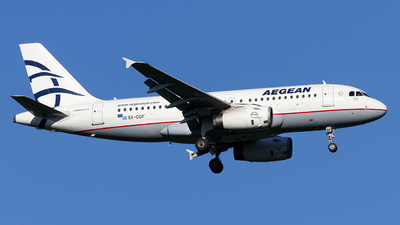 A picture of SXDGF - Airbus A319132 - Aegean Airlines - © Riccardo Balbo