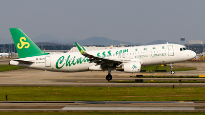 A picture of B1670 - Airbus A320214 - Spring Airlines - © Jackson Zheng
