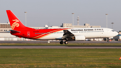 A picture of B5106 - Boeing 73797L - Shenzhen Airlines - © HELLOjet