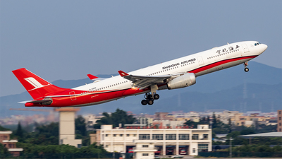 A picture of B6096 - Airbus A330343 - Shanghai Airlines - © Mason Wang