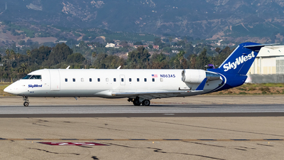 A picture of N863AS - Mitsubishi CRJ200ER - SkyWest Airlines - © Ricky Teteris