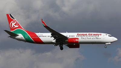 A picture of 5YCYD - Boeing 7378HX - Kenya Airways - © Eric Boettcher
