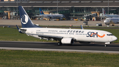 A picture of B5755 - Boeing 73789L - Shandong Airlines - © SEN BAI
