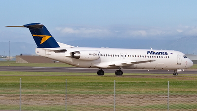 A picture of VHUQN - Fokker 100 - Alliance Airlines - © Dave Parer