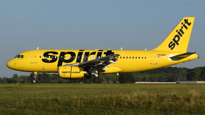 A picture of N528NK - Airbus A319132 - Spirit Airlines - © DJ Reed - OPShots Photo Team