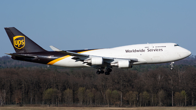 A picture of N579UP - Boeing 74745E(BCF) - UPS Airlines - © Julian Maas