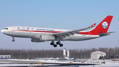 A picture of B8962 - Airbus A330243 - Sichuan Airlines - © Liu Zhanxu