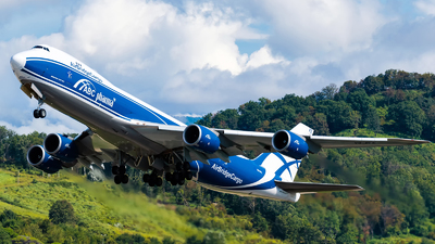 A picture of VQBFE - Boeing 74783Q(F) - AirBridgeCargo Airlines - © Alexander Lebedev