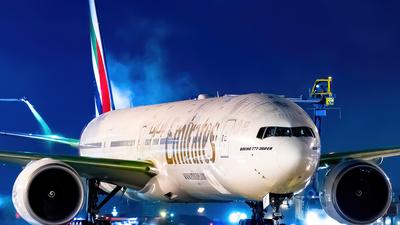 A picture of A6EQF - Boeing 77731H(ER) - Emirates - © Derek MacPherson