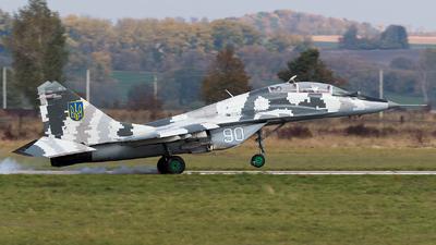 90 - Mikoyan-Gurevich MiG-29UB Fulcrum - Ukraine - Air Force