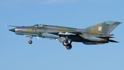 108 - Mikoyan-Gurevich Mig-21bisD Fishbed L - Croatia - Air Force