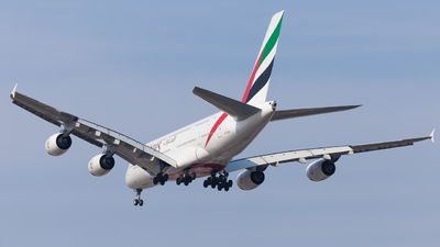 A picture of A6EOY - Airbus A380861 - Emirates - © Ren LanMing