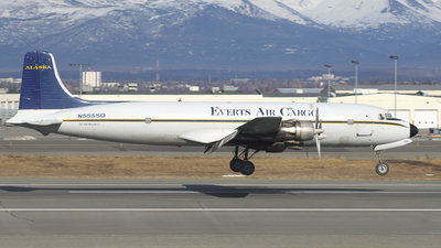 N555SQ - Douglas DC-6B(F) - Everts Air Cargo