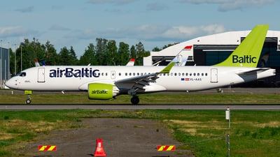 A picture of YLAAS - Airbus A220300 - Air Baltic - © Laszlo Fekete