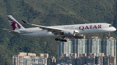 A picture of A7ALQ - Airbus A350941 - Qatar Airways - © Thomas Shum - Skies of Pearl