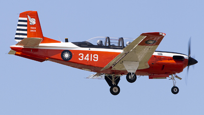 3419 - Beechcraft T-34C Turbo Mentor - Taiwan - Air Force