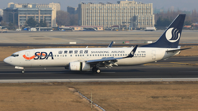 A picture of B7565 - Boeing 73785N - Shandong Airlines - © SEN BAI
