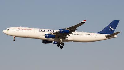 YK-AZA - Airbus A340-313X - Syrianair - Syrian Arab Airlines