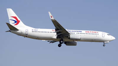 A picture of B5647 - Boeing 7378HX - China Eastern Airlines - © StephenLian020216