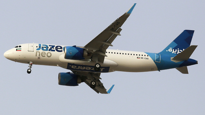 9K-CAQ - Airbus A320-251N - Jazeera Airways