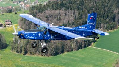 A picture of HBFKC - Pilatus PC6/B2H4 Turbo Porter - [844] - © Thierry Weber