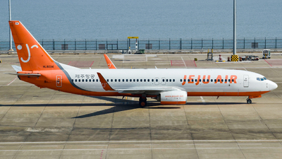 A picture of HL8034 - Boeing 7378HX - Jeju Air - © YHLeung