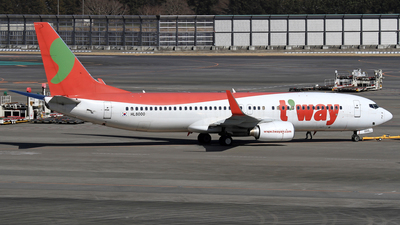 HL8000 - Boeing 737-86N - T'Way Air
